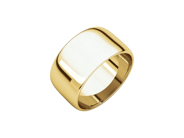 12mm Wedding Band - 10K Yellow Gold 12mm Engravable Wedding Band