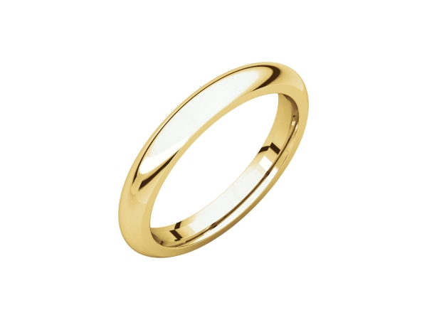 3.5mm Wedding Band - 14K Yellow Gold 3.5mm Comfort Fit Wedding Band