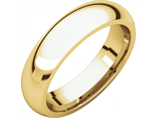Wedding Bands - Half Round Comfort Fit Bands