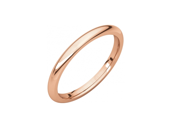 2.5mm Wedding Band - 10K Rose Gold 2.5mm Comfort Fit Engravable Wedding Band