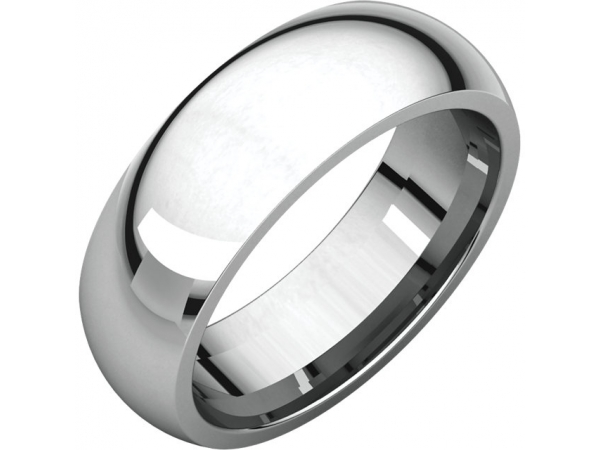 6.5mm Wedding Band - Platinum 6.5mm Comfort Fit Engravable Wedding Band