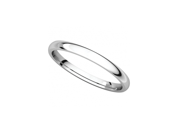 11mm Wedding Band - Palladium 11mm Comfort Fit Engravable Wedding Band