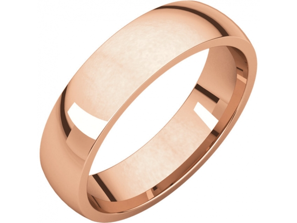 Wedding Bands - Half Round Comfort Fit Light Bands - image #2
