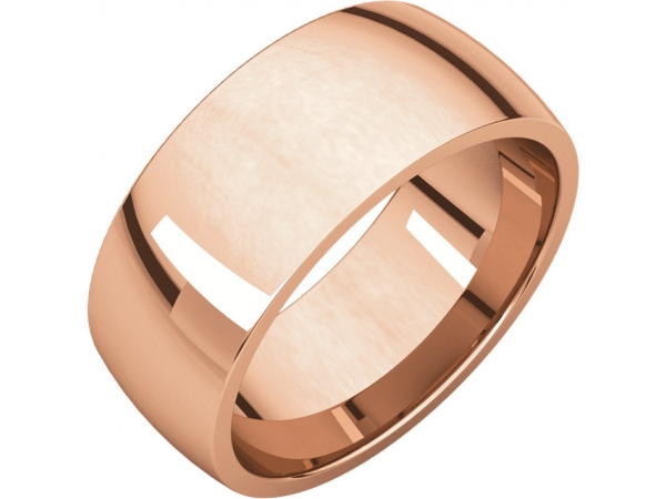 Wedding Bands - Half Round Comfort Fit Light Bands