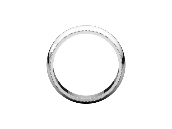 Ladies Wedding Bands - 6mm Wedding Band - image 2