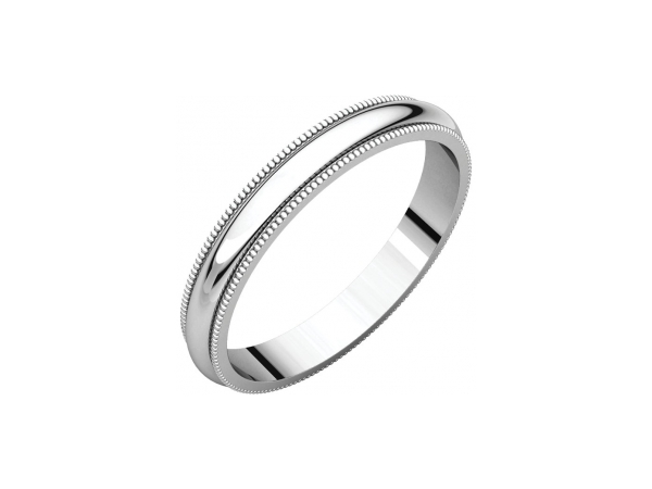 Ladies Wedding Bands - 3mm Wedding Band