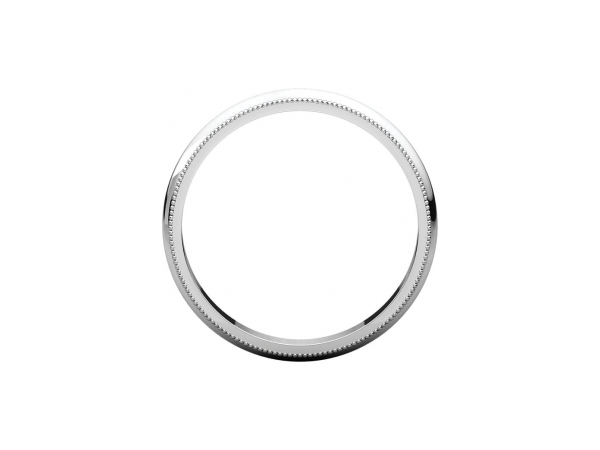 Ladies Wedding Bands - 3mm Wedding Band - image 2