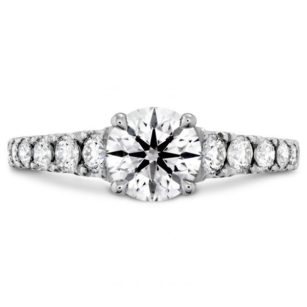Hearts On Fire Trancend - 18kw Transcend Premier Diamond engagement ring by Hearts On Fire, .65-.84cttw, HOF133953 .308ct H VS2
