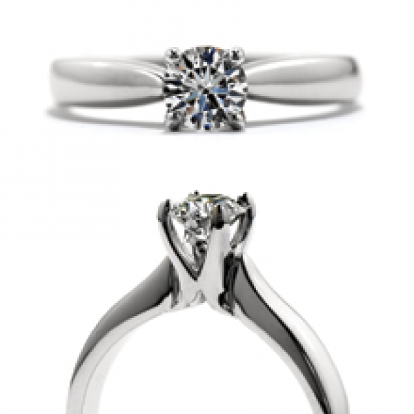 Hearts On Fire Serenity - 18kw .581ct Serenity Select Complete Solitaire by Hearts On Fire, HOF141142=.581ct K VS2