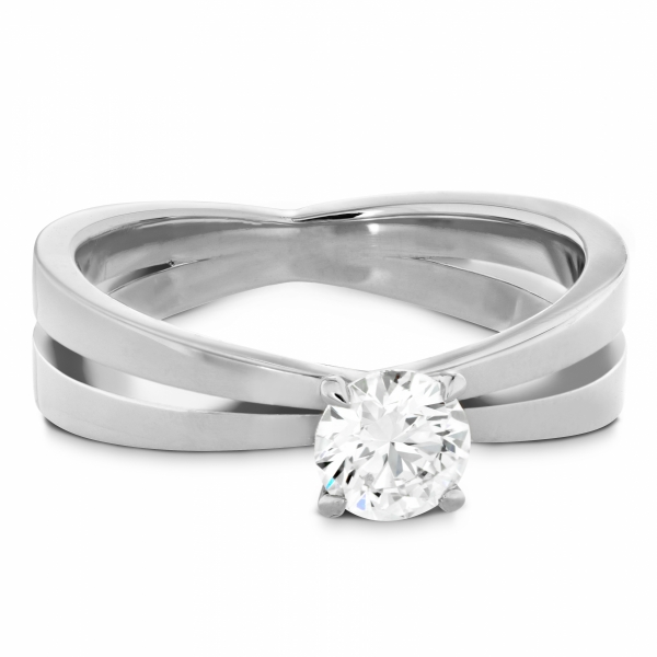 Hearts On Fire Destiny - 18kw .705ct Destiny split shank solitaire engagement ring by Hearts on Fire, HOF145577