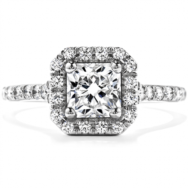 Hearts On Fire Signature Dream - 18kw .94ct tw Signature Dream Transcend Single halo by Hearts On Fire, DRM26208=.521ct