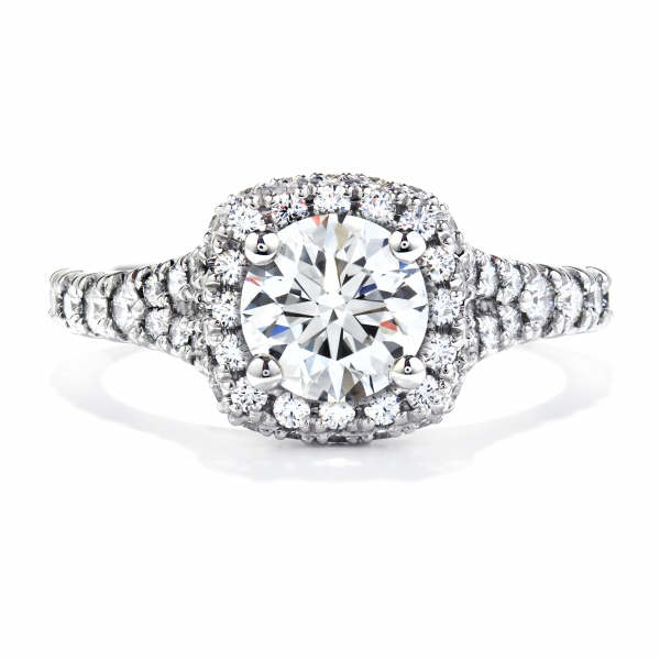 Hearts On Fire Acclaim - 18kw 1.33ct tw Acclaim Engagement Ring by Hearts On Fire, center= .560ct Signature quality
