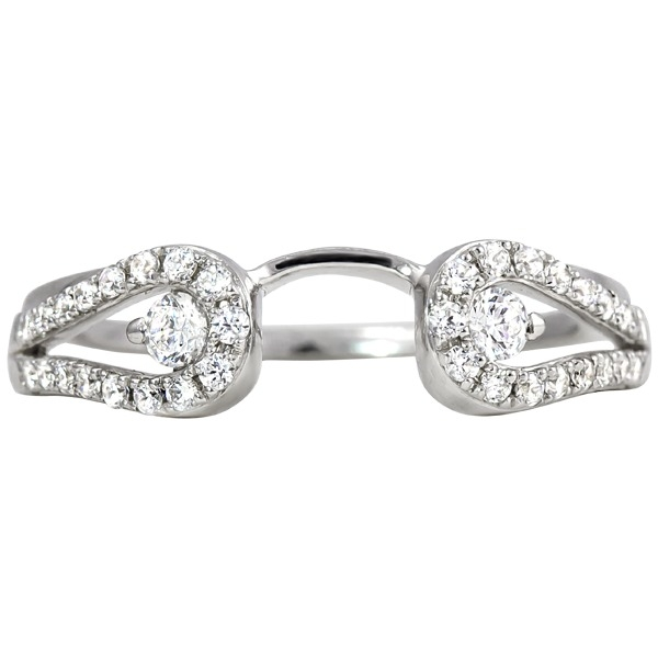 Ladies Diamond Wedding Rings - Diamond Wrap - image 2