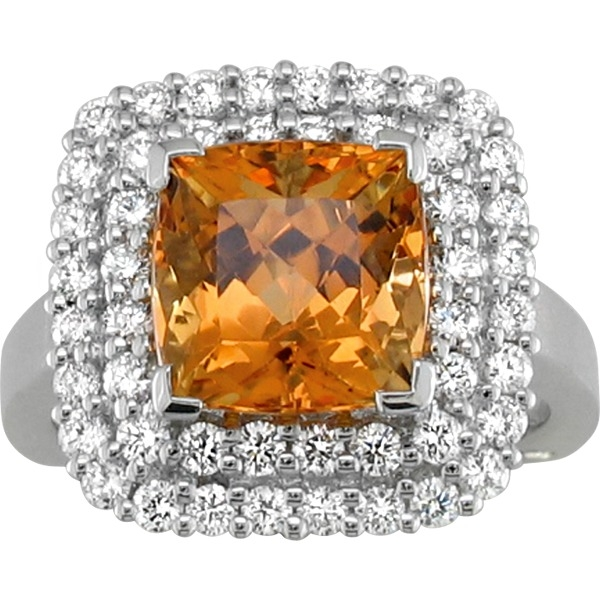 Precious Topaz and Diamond - 18K White Gold Precious Topaz 4.67Ct and Diamond .89Tw