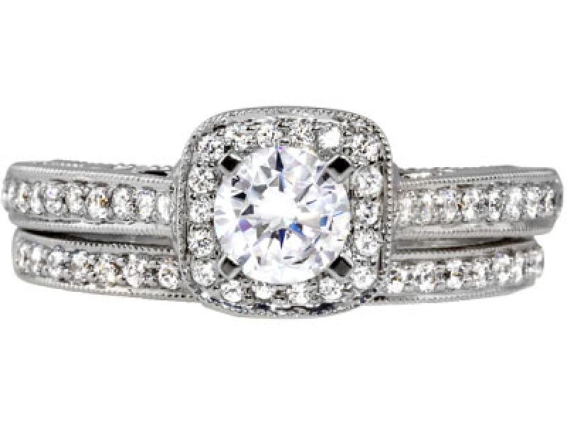 2/3ct tw Engagement Ring - 14kw 2/3ct tw dia engagement ring, center=3/8ct H SI1