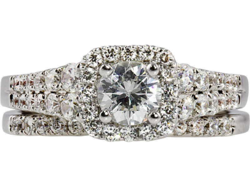 1ct tw Engagement Ring - 14kw 1ct tw diamond eng ring, center =1/2ct H SI1