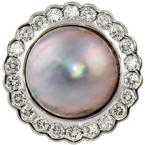 Rings - Maube Pearl and Diamond