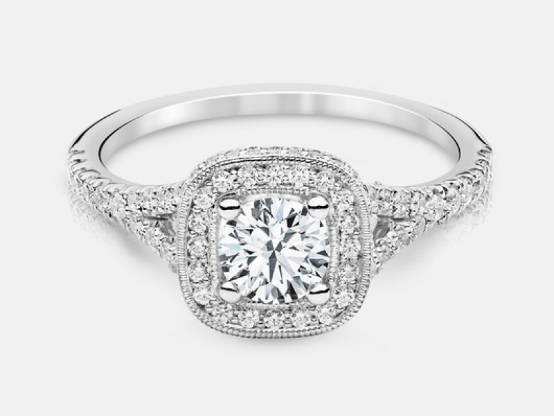 .89ct tw Engagement Ring - 14kw Elsa .89ct tw diamond engagement ring, center=.51ct J I1, 100=.38cttw