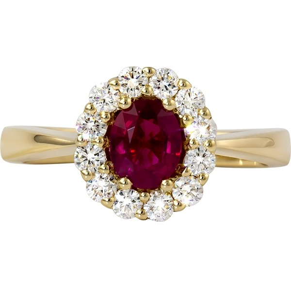 Ruby and Diamond Ring - 14k yellow gold Ruby and Diamond ring. .39ct tw of diamonds