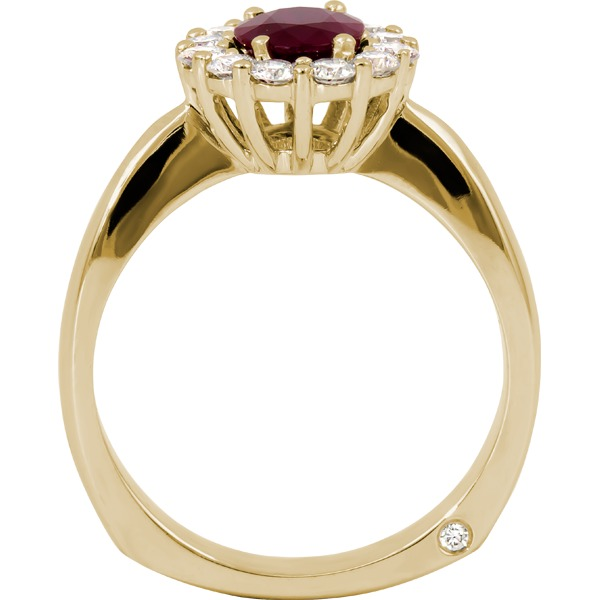 Rings - Ruby and Diamond Ring - image #2