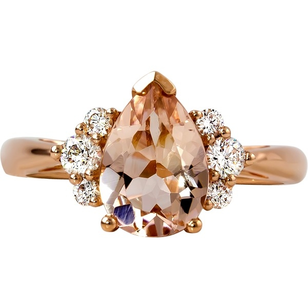 Morganite and Diamond Ring - 14k yellow gold Morganite and Diamond Ring. Diamonds=.26ct tw