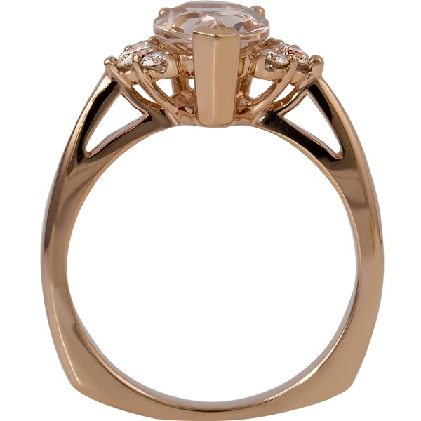 Rings - Morganite and Diamond Ring - image 2