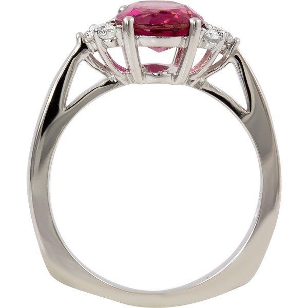 Rings - Pink Tourmaline and Diamond Ring - image #2