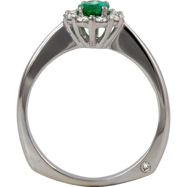 Rings - Emerald and Diamond Ring - image #2