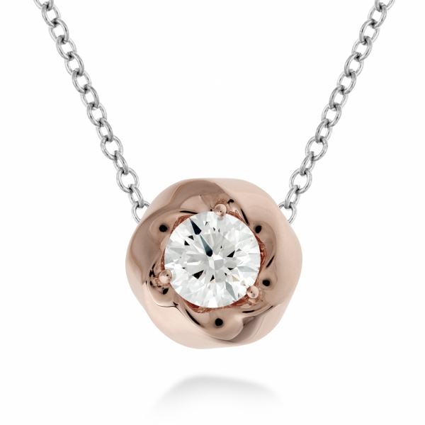 Hearts On Fire Atlantico - 18k wht w/ rose gold .51ct Hearts On Fire Atlantico Single Diamond pendant