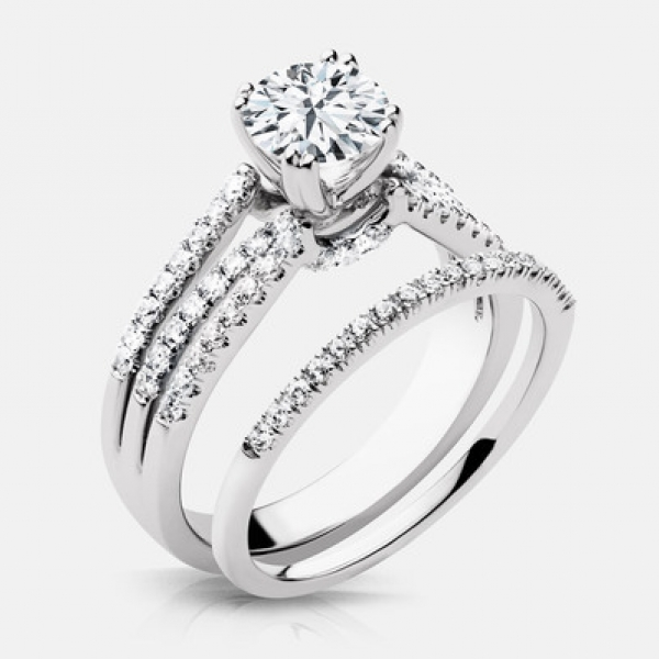 Diamond Engagement Rings - 14k Engagement Ring - image #2