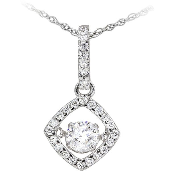 Diamonds In Motion - 14k white gold 3/8ct total weight Diamonds In Motion pendant.