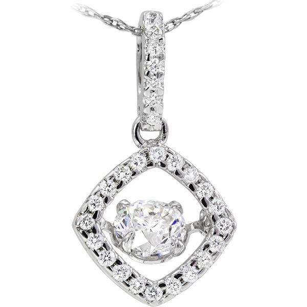 Diamonds In Motion - 14k white gold 3/4ct total weight Diamonds In Motion pendant.