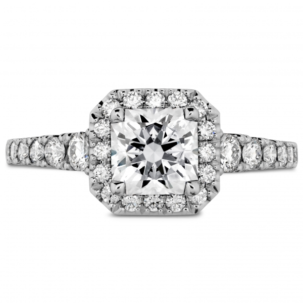 Hearts On Fire Trancend - 18k wht Transcend single halo dream diamond ring by Hearts On Fire, 1.17ct tw (DRM26248= .725ct)