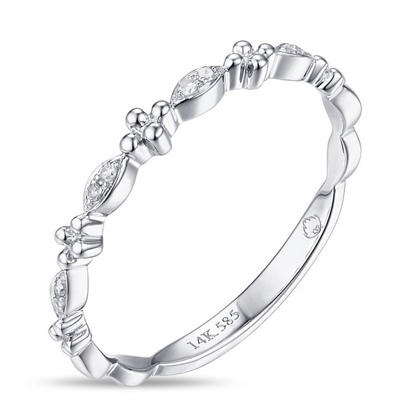 Diamond Band - 14k white gold .03ct tw diamond fashion band