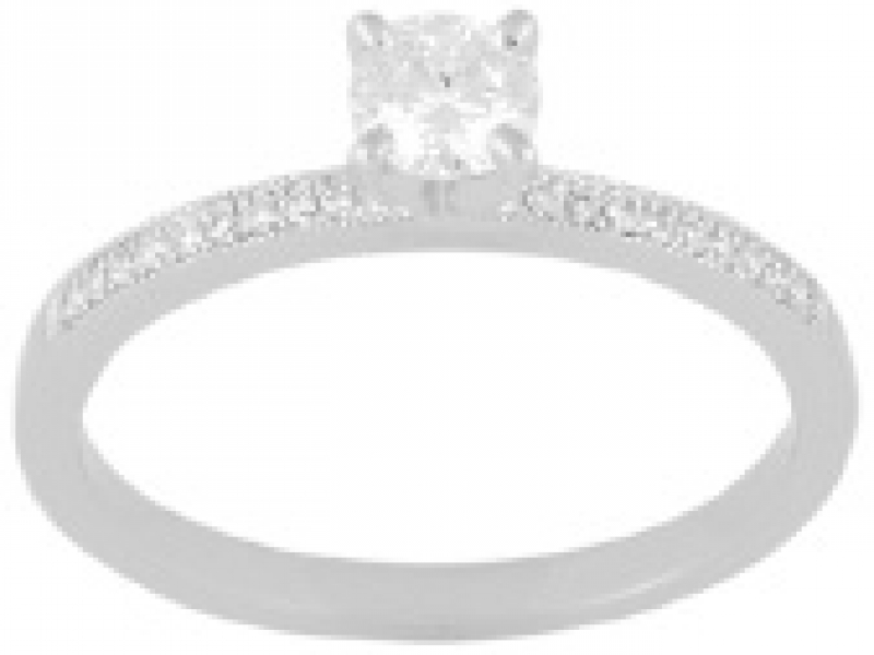 .40ct tw Engagement Ring - Lds 14k wht .40cttw eng ring, center=.32ct I VS2