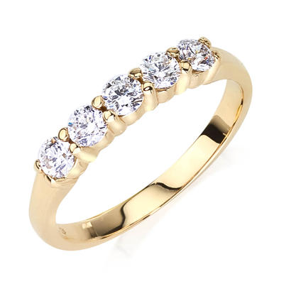 1/2ct tw Anniversary Band - 14k 1/2ct total weight diamond anniversary band.  This ring is available in 14k white, yellow and rose gold.
