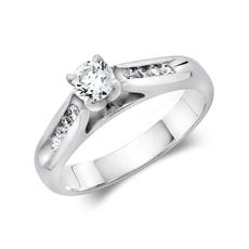 .57ct tw Engagement Ring - 14k wht gold engagement ring .57 ct tw center=.37ct