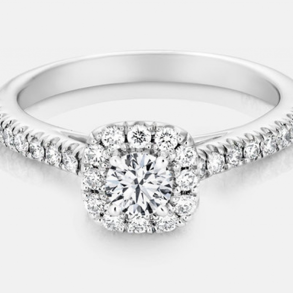 .73ct tw Engagement Ring - 14k w .73cttw Pippa diamond engagement ring, center=.33ct H VS2 Ex