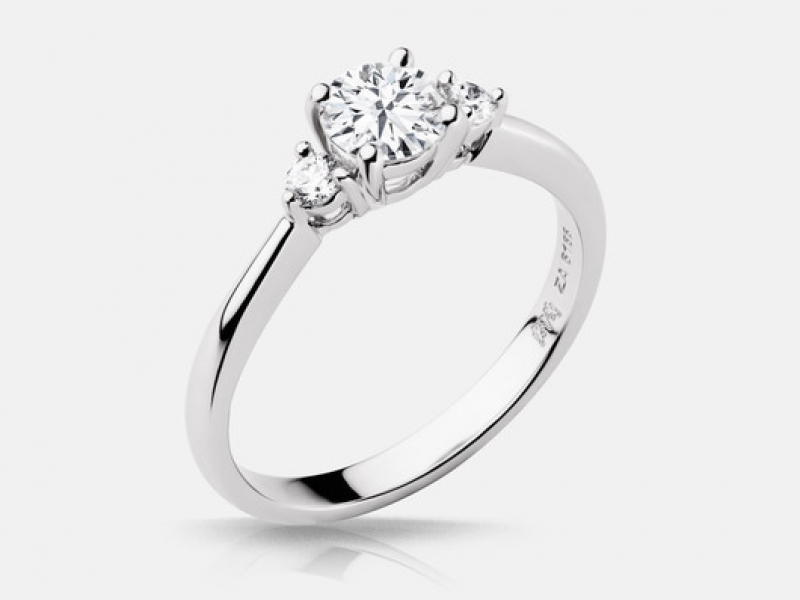 .57ct tw Engagement Ring - 14k wht Beulah .57ct tw diamond engagement ring, center=.46ct IVS2good