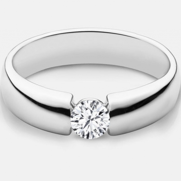 48ct tw Engagement Ring - 14k wht Claire .48ct diamond ring