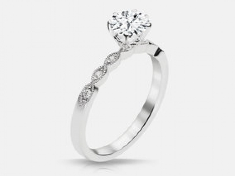 .57ct tw Engagement Ring - Lds 14k wht .57ct tw diamond engagement ring, Nicole .50 si2 h 4.98x5.00x3.13 gia 1156915394