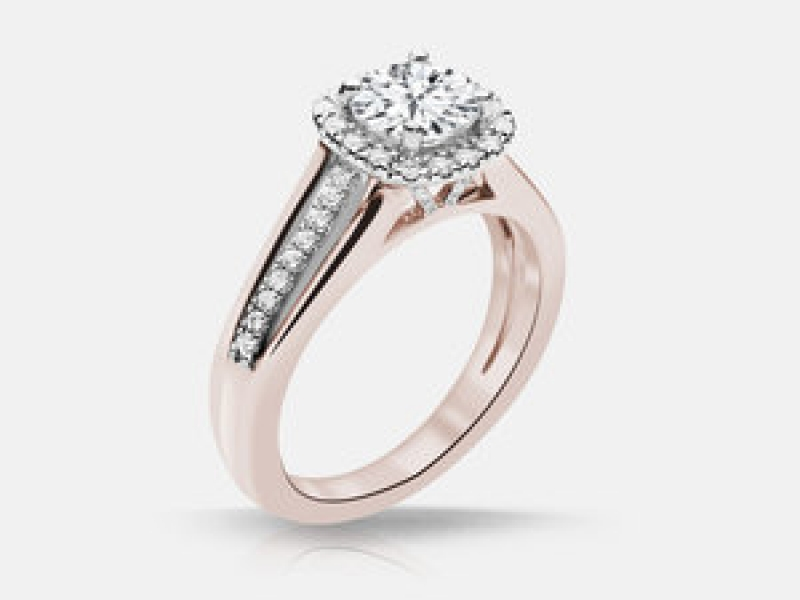 65ct tw Engagement Ring - Lds 14k rose gold .65ct tw diamond engagement ring, Ainsley.46ct VS2 I 4.90x4.94x3.08x gia 7172298431