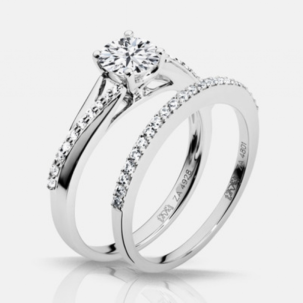 Diamond Engagement Rings - .60ct tw Engagement Ring - image 3