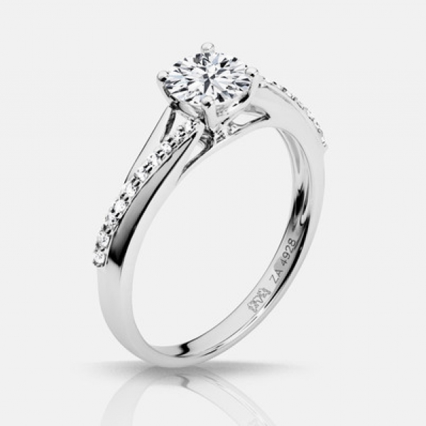 Diamond Engagement Rings - .60ct tw Engagement Ring - image 2