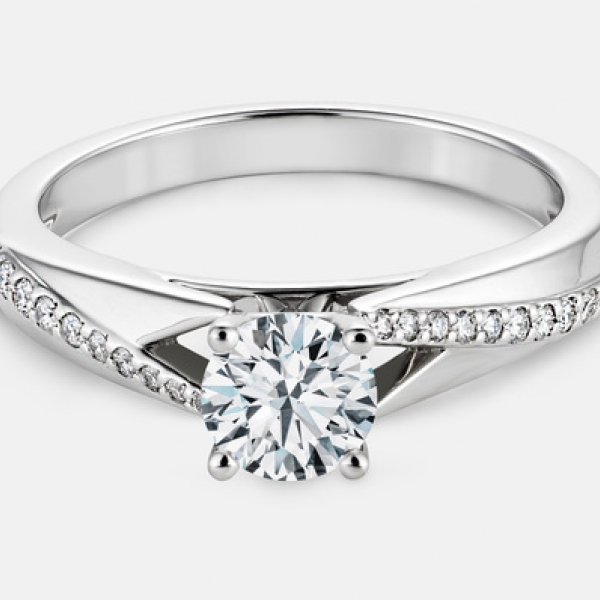 .60ct tw Engagement Ring - 14k wht Chloe engagement ring, .60cttw (center=.50ct GSI2) gia 1166425760 5.02x5.04x3.14