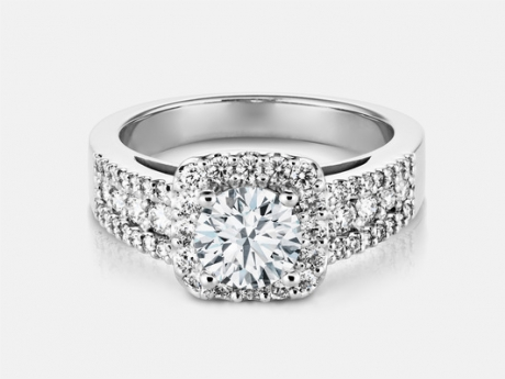 14k white Engagement Ring - 14k white gold engagement ring with .70ct center diamond and 1.31ct tw.