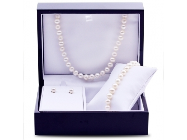 Pearl Strand - Lady's Sterling Silver 3 Pc Pearl Set