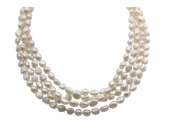 Pearl Strand - Lady's 8.0-9.0Mm Fresh Water Baroque Pearl Strand Length: 80