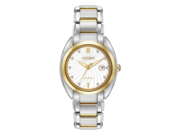 Citizen Eco-Drive Watch - Lady's Two Tone Stainless Steel Dress Citizen Eco-Drive Watch