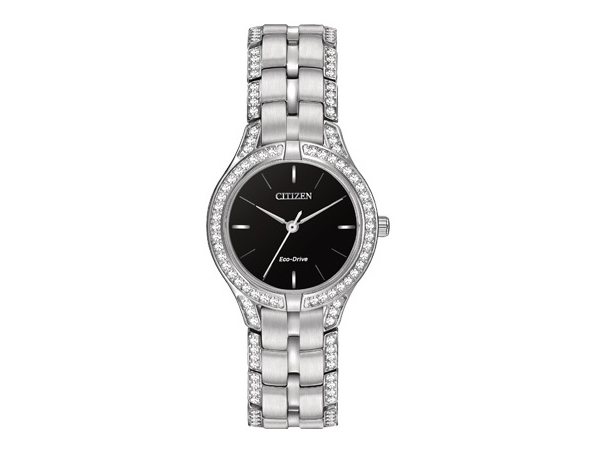 Citizen Eco-Drive Watch - Lady's Stainless Steel Dress With Mineral Crystal Citizen Eco-Drive Watch